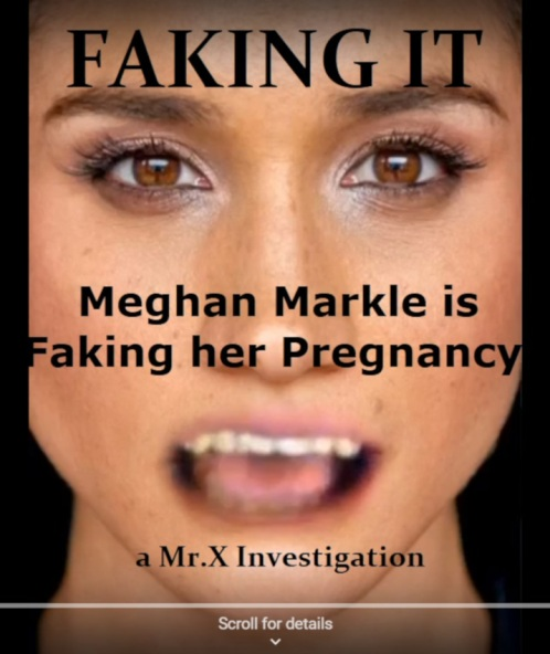 Meghan Markle is faking her pregnancy
