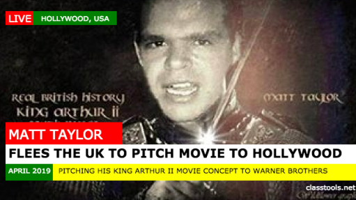 Matt Taylor flees to Hollywood to escape prison