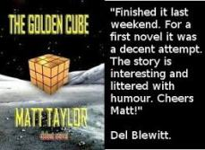 Matt Taylor's debut sci-fi novel, The Golden Cube