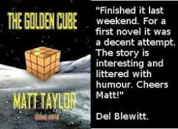 Matt Taylor's debut sci-fi novel, The Golden Cube