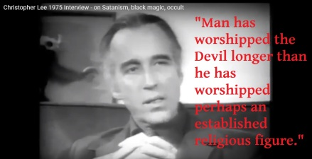 """""""The Devil is Real,"""" says Christopher Lee"""
