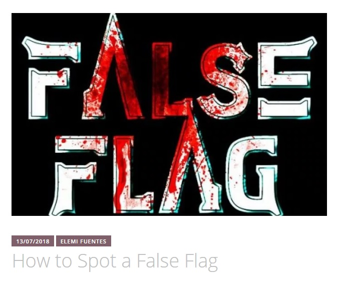how to spot a false flag