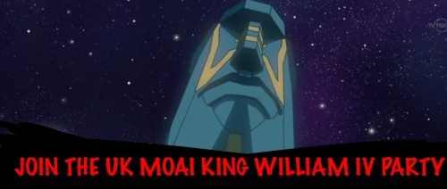 Join the UK Moai King William Party Today