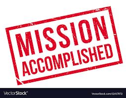 mission accompanished
