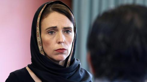 New Zealand's Prime Minister Jacinda Ardern pretending to be a Muslim