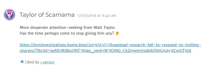 More desperate attention - seeking from Matt Taylor. Has the time perhaps come to stop giving him any?