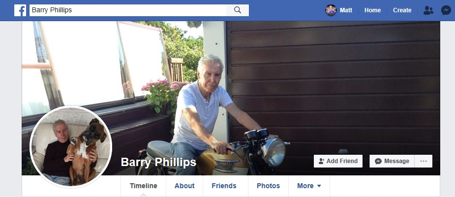 Barry Phillips FB Profile